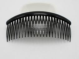 8 Black Plastic Large 24-Teeth Hair Clips Side Combs Pin Bar