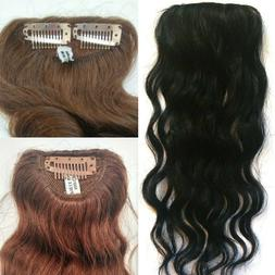 """8 or 14"""" 100% Human Hair Undetectable Wavy Clip In Filler Se"""
