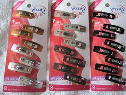 8 Goody Stay Put Slide Proof Hair Snap Clips Secure Hold Fit