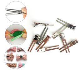 80pcs double prong metal alligator hair clips