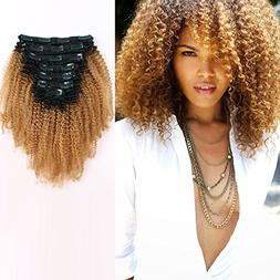 AmazingBeauty 8A Grade 3C 4A Big Afro Kinkys Curly Ombre Hai