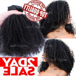 African Afro Kinky Curly Hair Clip In 100% Virgin Human Hair