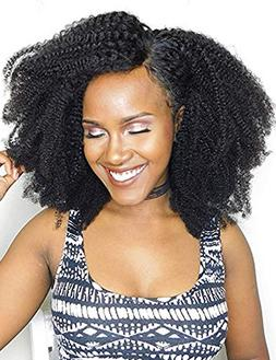 Luwigs Afro Kinky Curly 4B 4C Clip in Hair Extensions for Af