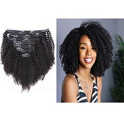 Loxxy Afro Kinky Curly Clip In Hair Extensions Natural Black