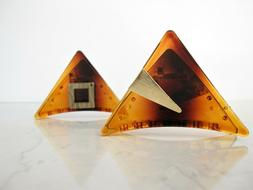Amber brown triangle bronze or gold design hair claw clip fo
