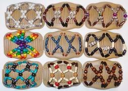 """Angel Wings Hair Clips 4x3.5"""", African Butterfly Style, US S"""