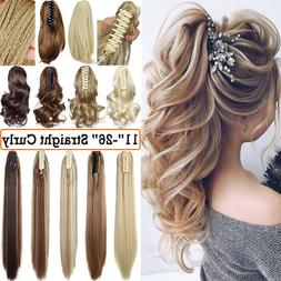 Any Shades Long Curly Hair Claw On Ponytail Clip In Hair Ext