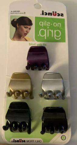 Scunci Barrette Barrettes Clips Purple Silver Gold Black Bro