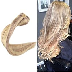 """Full Shine 18"""" 9 Pieces Color #18 and #613 Blonde Thick Clip"""