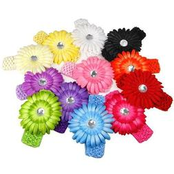 Blooming Daisy Flower Baby Girl Hair Clips with Headbands ac