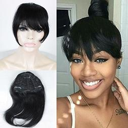 FOND Brazilian Human Hair Clip on Bangs Natural Fringe Clip