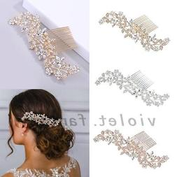 Bridal Hair Comb Hair Jewelry Crystal Rhinestone Hair Clips