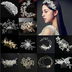 Bridesmaid Crystal Flower Hair Slide Comb Wedding Tiara Head