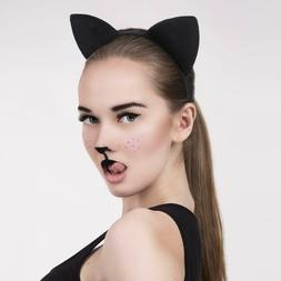 Cat Fox Ears Headband Costume Fur Anime Neko Cosplay Hair Cl