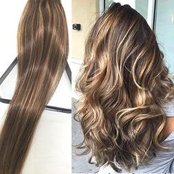 Clip in Hair Extensions Human Hair Extensions Clip on for Fi