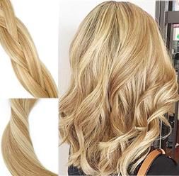 Clip In Human Hair Extensions Mixed Bleach Blonde Extension