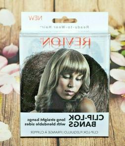 Revlon Clip Lok Bangs Hair Extensions Dark Brown