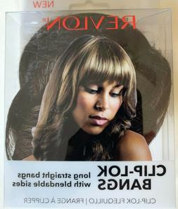 Revlon Clip Lok Bangs Hair Extensions Dark Brown New/Free Sh