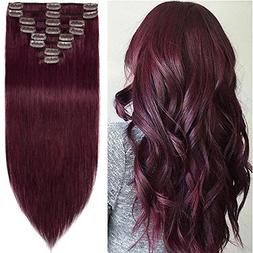 18 inch 100g Clip in Remy Human Hair Extensions Full Head 8