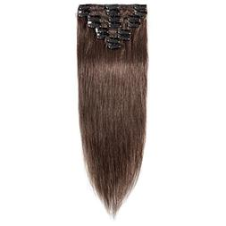 "16-22"" 100% Clip in Remy Human Hair Extensions Full Head 8pc"