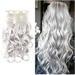 The Best 7pcs Clip in Hair Extension Placement Look Real Syn