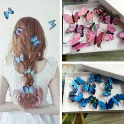 Lot Butterfly Hair Clips Bridal Hair Accessories Wedding Pho