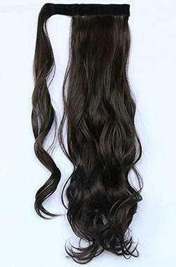 "SWACC 20"" Women Curly Wrap Around Ponytail Extension Synthet"