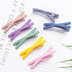 Cute Candy Color Duckbill X Shaped Hair Clip Snap Hairpin  B