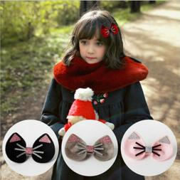 Cute Girl Cat Hair Clips Accessory Kids Hair Bows Hair Headb