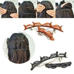 Double Bangs Hairstyle Hairpin Doul Layer Hair Clip Twist Ba