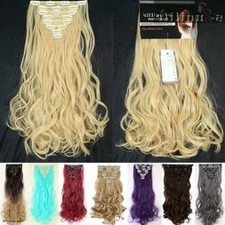 Double Weft Full Head Clip in Hair Extensions real natural f