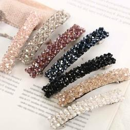 Elegant Crystal Hairpins Hairgrip Barrettes Zircon Hair Spri