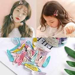fashion colorful water droplets hair clips cute girls hairpi