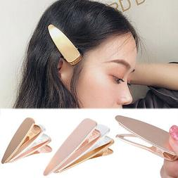 Fashion Metal Hairpins Girl Hollow Duckbill Hair Clips Barre