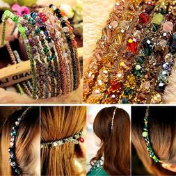 Fashion Women Headband Glitter Crystal Headwrap Hair Band Ho