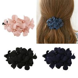 Fashion Women's Flower Rhinestone Hair Pins Hairpin Barrette