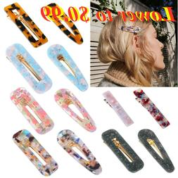 Fashion Women's Hair Slide Clips Snap Barrette Hairpin Pins
