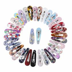 Girl's Snap Hair Clips Slide Grips Barrettes Hair Pins Comb