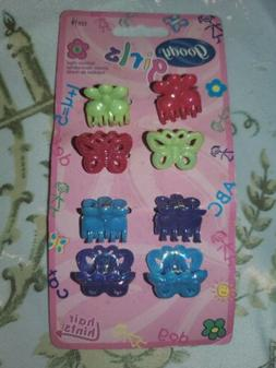 Goody Girls 8 Hair Clips-Colorful-About 1 inch-New