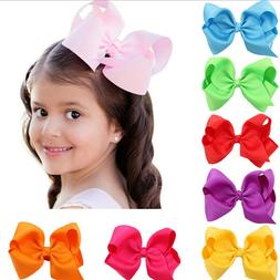 Girls Kids Headbands Hair Bows Bow Knot Clips Hairpin Ribbon