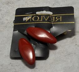 REVLON HAIR BARRETTES OVAL RED PLASTIC HAIR ACCESSORY NOC  S
