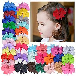 Mintbon 20pcs Baby Girls Hair Bows Boutique Alligator Clip B