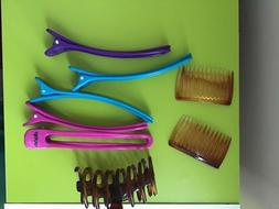 Diane Hair Clips combs claw clip clamp used lot 8