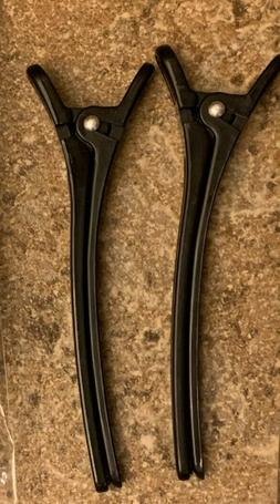 Hair Clips for Blow Drying -  Black 2 Pieces