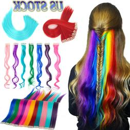 Hair Long Straight Extensions Clip Hairpiece Highlight Piece