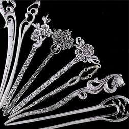 Hair Sticks Pins Silver Alloy Geometric Headbands Lady Hair