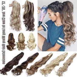 Highlight Thick Real Claw Ponytail Clip In Hair Extensions P