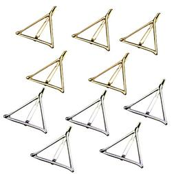 Tinksky Hollow Triangle Geometric Metal Hairpin Hair Clip Cl