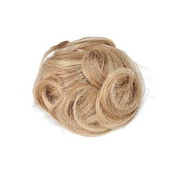 Rosette Hair 100% Human Clip on/in Messy Hair Bun Extension