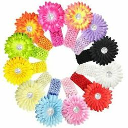 Kella Milla Set of 12 Gerber Daisy Flower Baby Hair Clips an